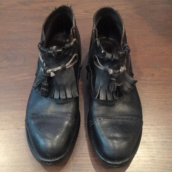 Leather Booties worn once